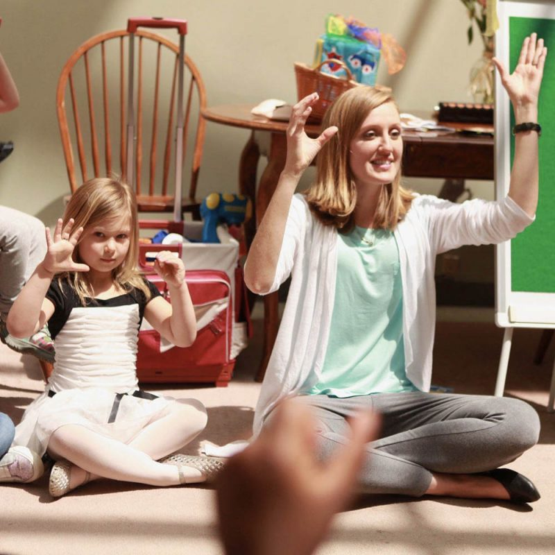 Communication Station children Learning Sign Language
